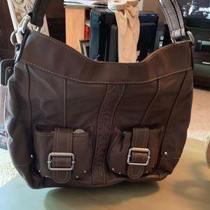 Tignanello large brown leather purse.
